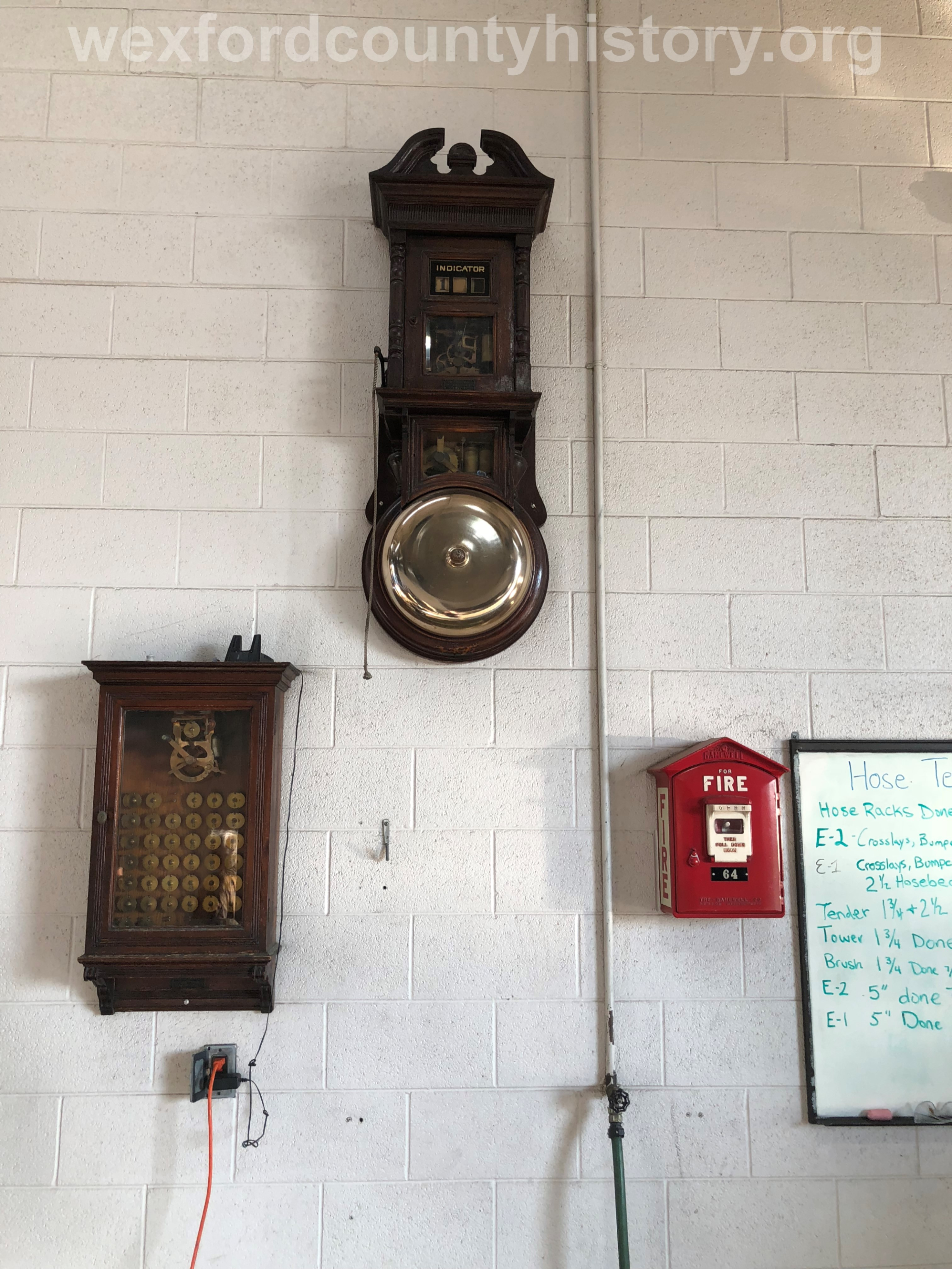 Old Fire Alarm System At Cadillac Fire Department Hall