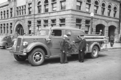 Cadillac Fire Department Truck at the City Hall