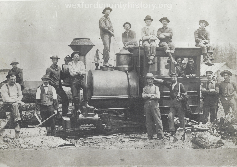 Cadillac-Railroad-Men-Posing-On-Locomotive