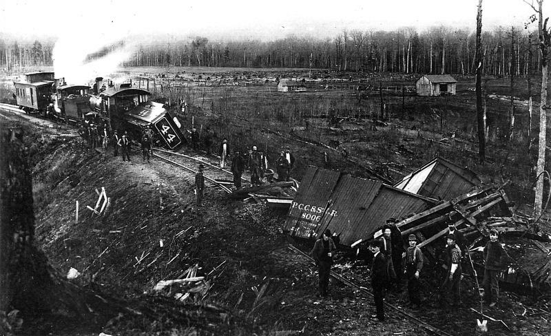 Ann Arbor Railroad Train Wreck, 1899