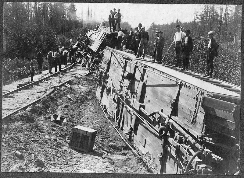 Ann Arbor Railroad Train Wreck, 1902