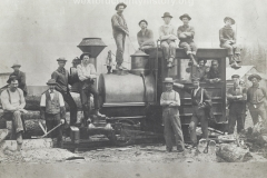 Cadillac-Railroad-Men-Posing-On-Locomotive