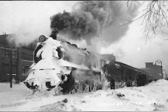 Train in a Snowstorm