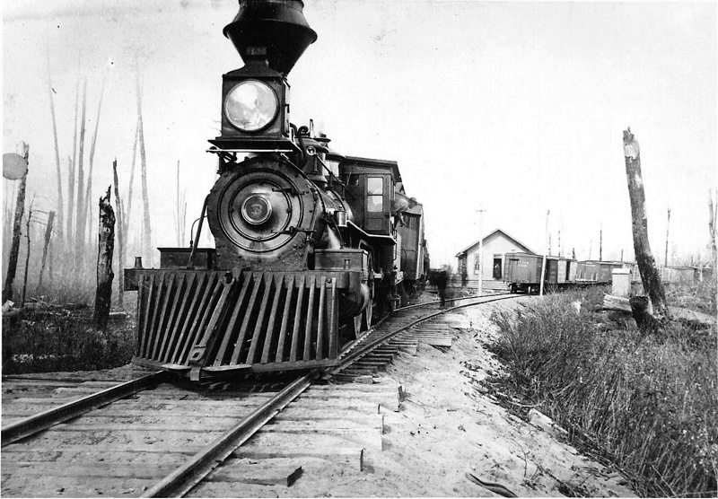 Grand Rapids & Indiana Railroad Train in 1880