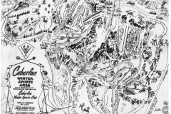 Caberfae Ski Area Trail Map, 1951