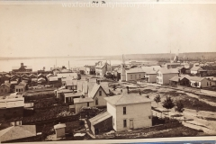 View From The School House Looking Down Harris Street, c. 1882