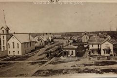 View From The School House Looking Across Harris Street, c. 1882