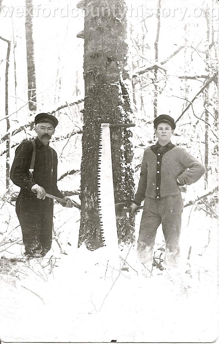 Cadillac-Lumber-Notching-A-Tree