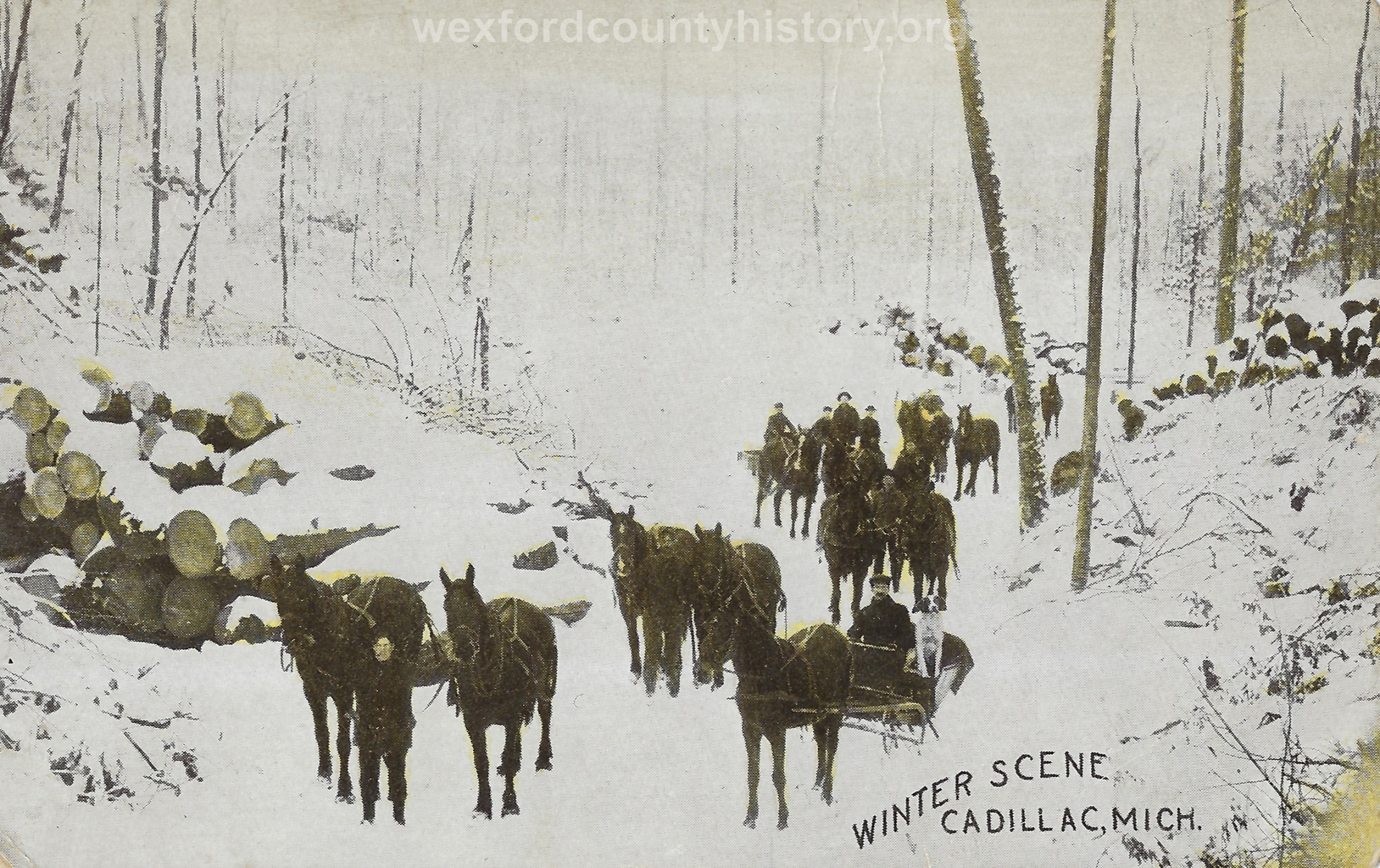 Cadillac-Lumber-Winter-Scene-At-Cadillac