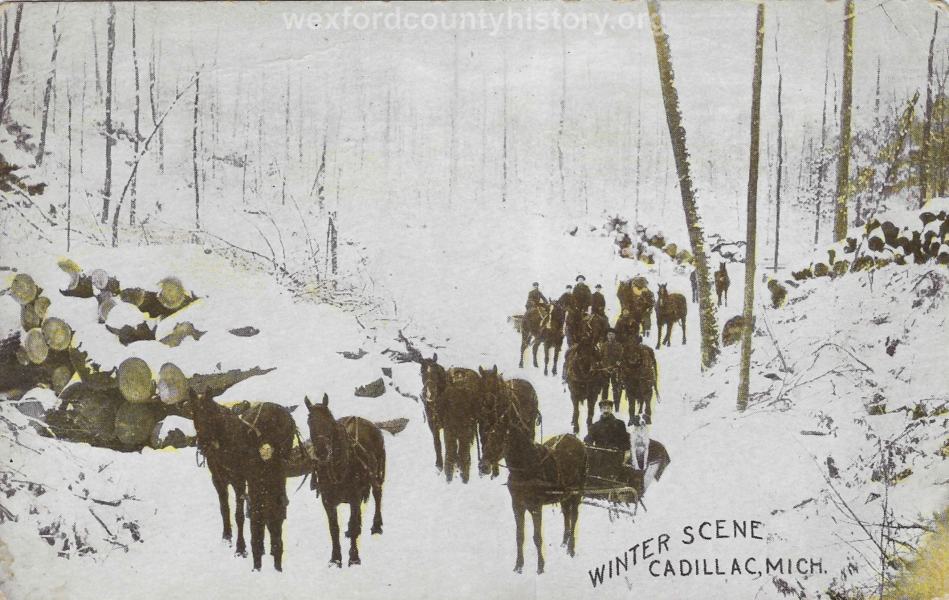 Cadillac-Lumber-Winter-Scene-Cadillac-Michigan