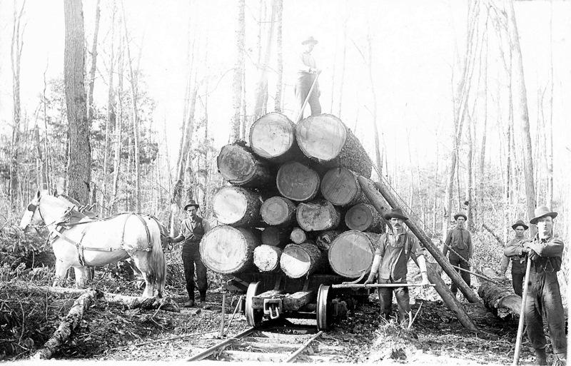 Loading a Logging Car