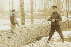 Cadillac-Lumber-Two-Lumberjacks-With-A-Two-Person-Saw