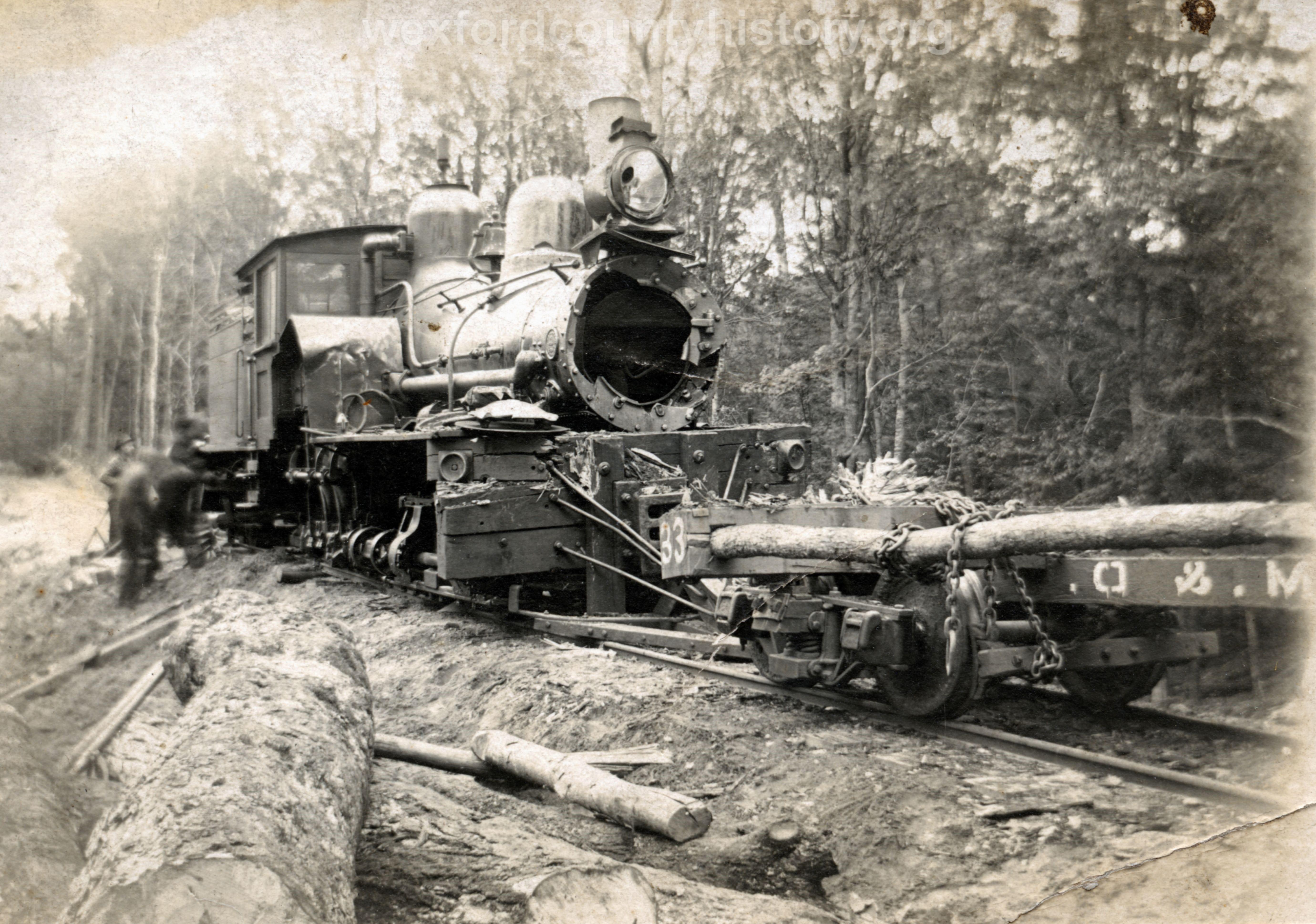 Cadillac-Lumber-Cummer-Diggins-Locomotive-5-Lima-Number-936-after-boiler-explotion-in-1923