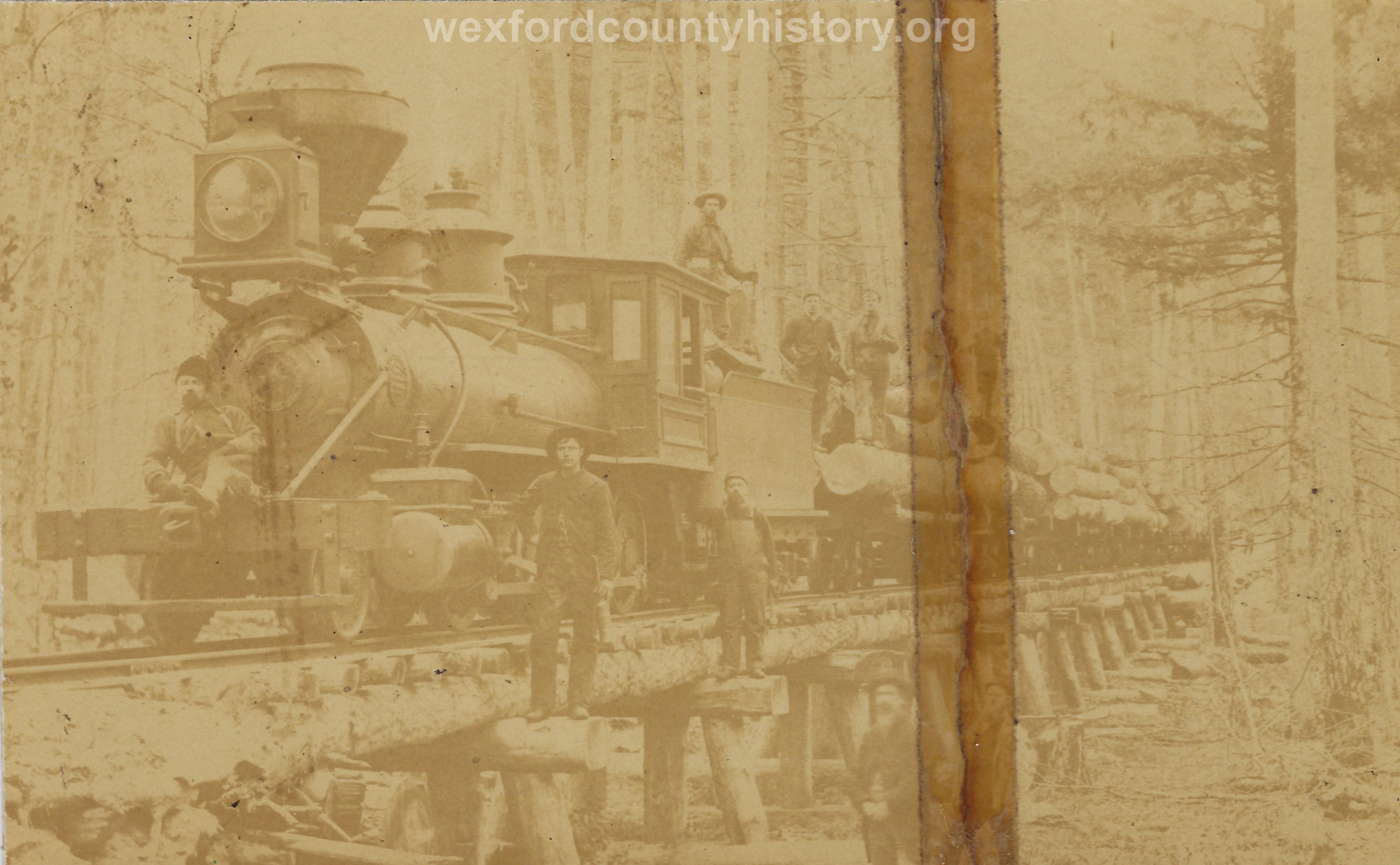 Cadillac-Lumber-Locomotive-Passing-On-Wooden-Bridge
