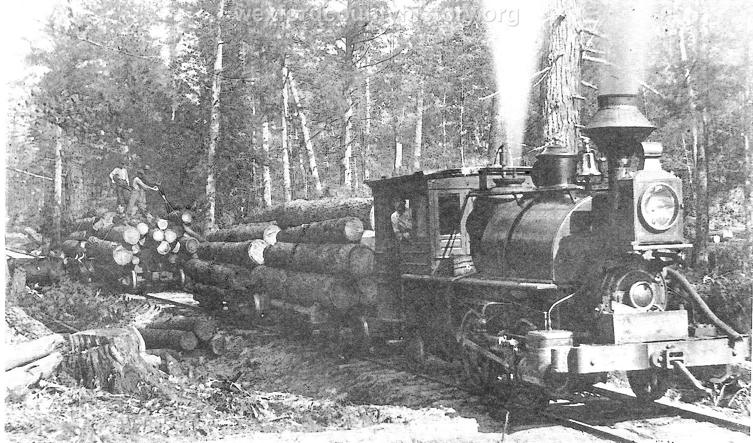Cadillac-Railroad-Cummer-Lumber-Compnay-Shay-Locomotive-TR1ts749