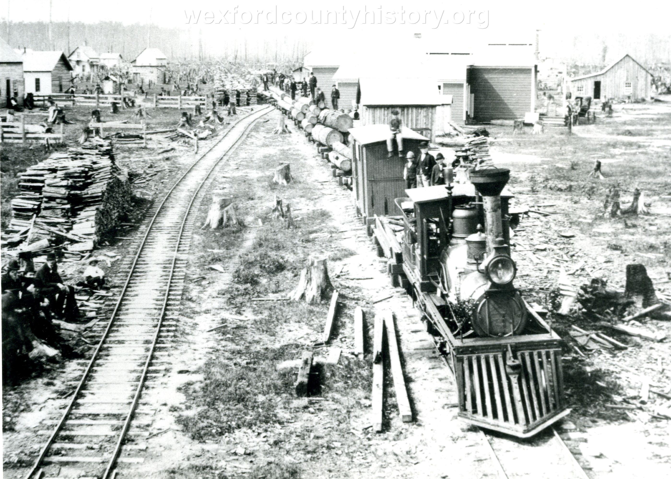 Cadillac-Railroad-Logging-Train-Near-Cadillac