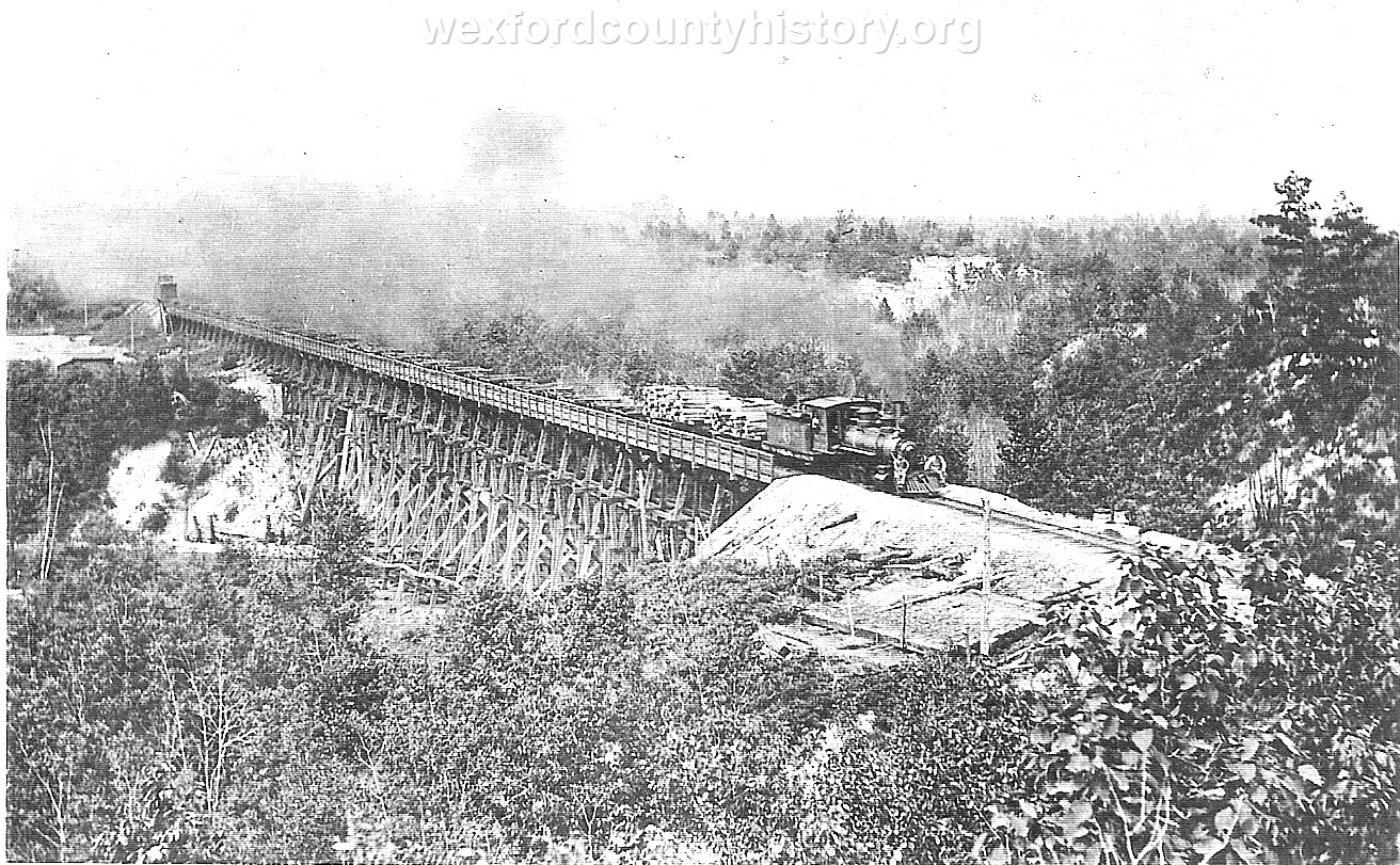 Cadillac-Railroad-Lumber-Train-above-the-pine-River-near-Hoxeyville-TR2ts749