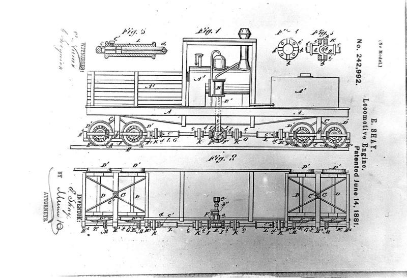 Shay Locomotive Diagramed