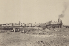 Cadillac-Railroad-Train-Leaving-Cummer-Lumber-Yards-on-GR-and-I-Railorad