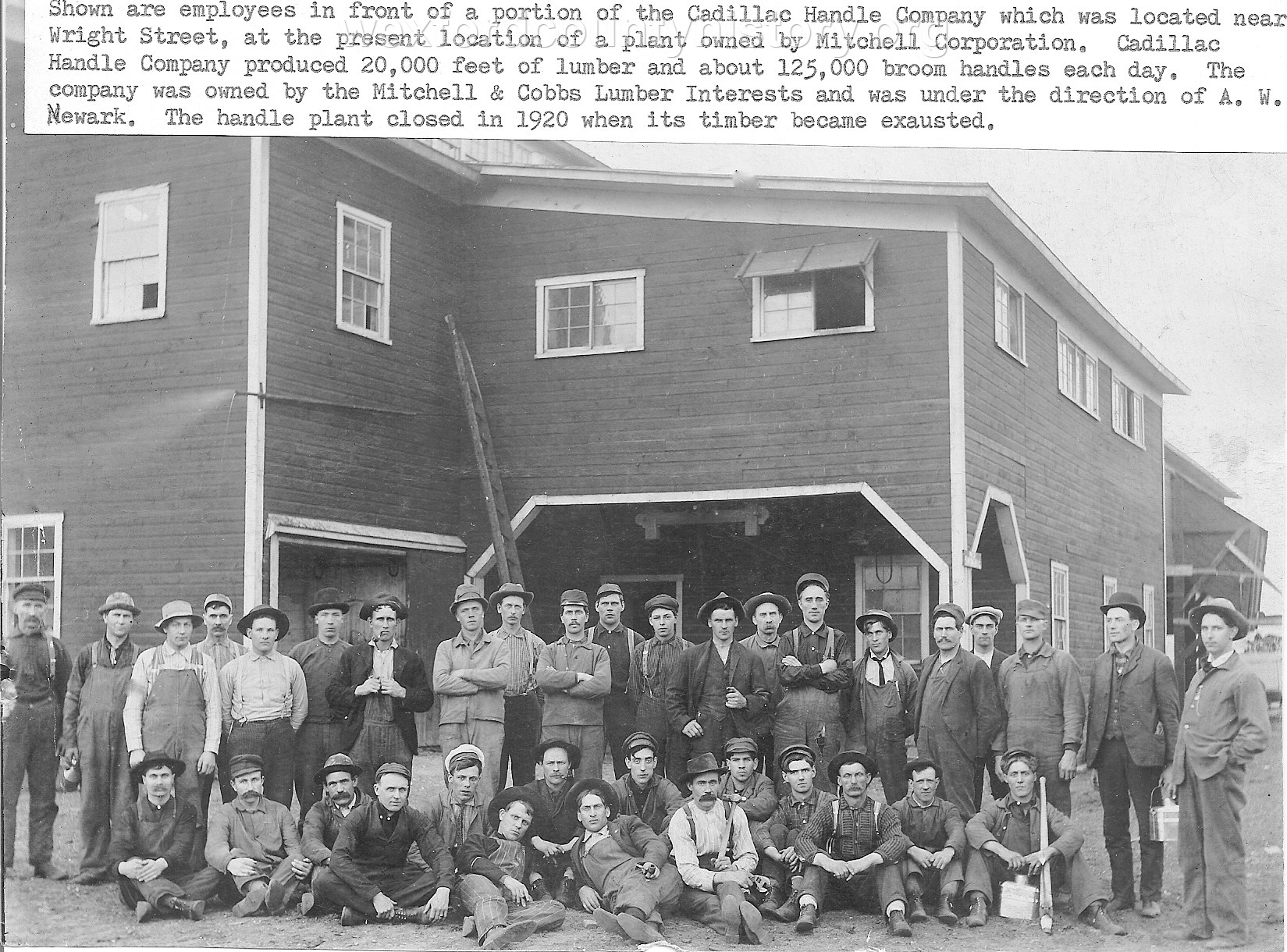 Cadillac Handle Company, 1905