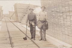 Cadillac-Lumber-Mill-Workers-On-The-Tramway-In-The-Storage-Yards