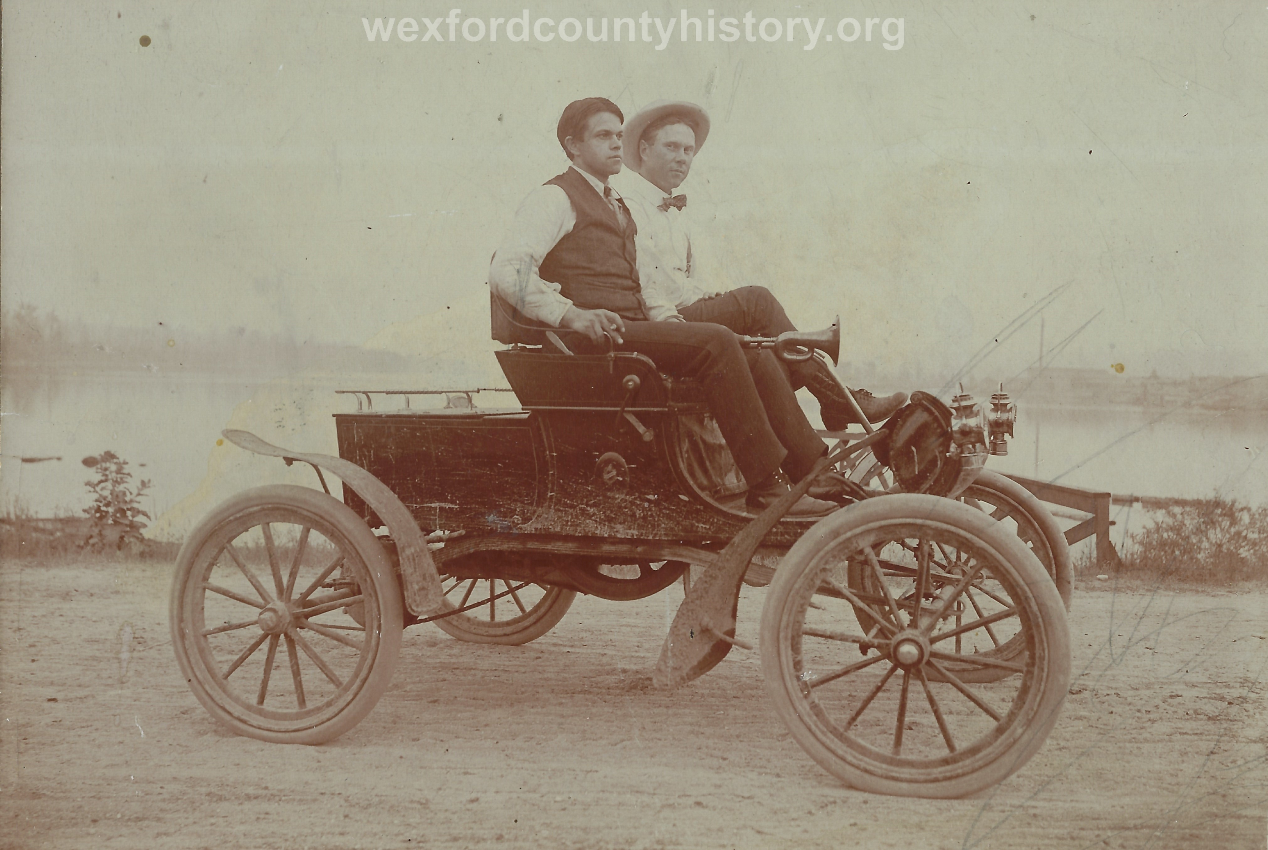 Two Men In An Early Car
