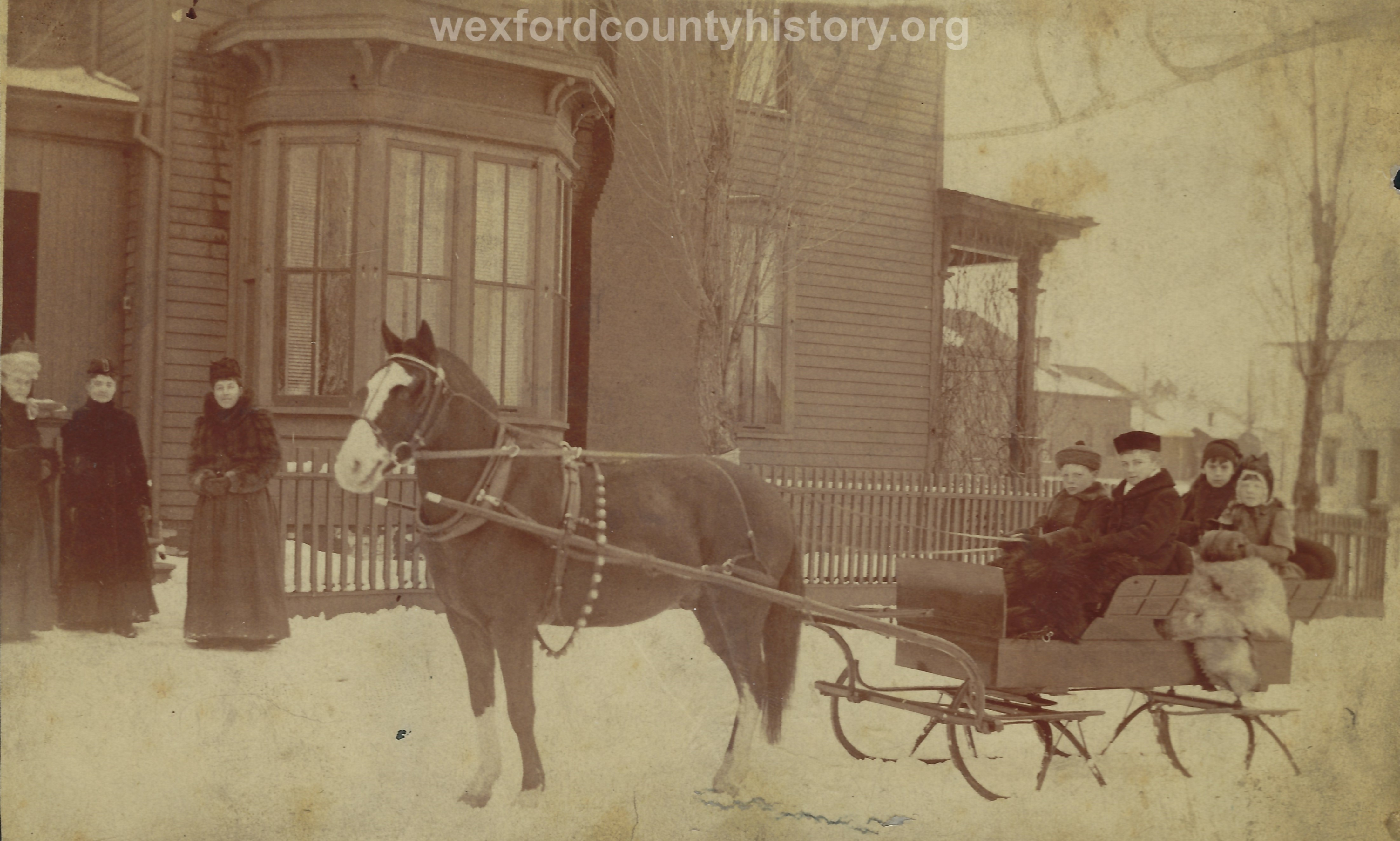 Family In A Sled