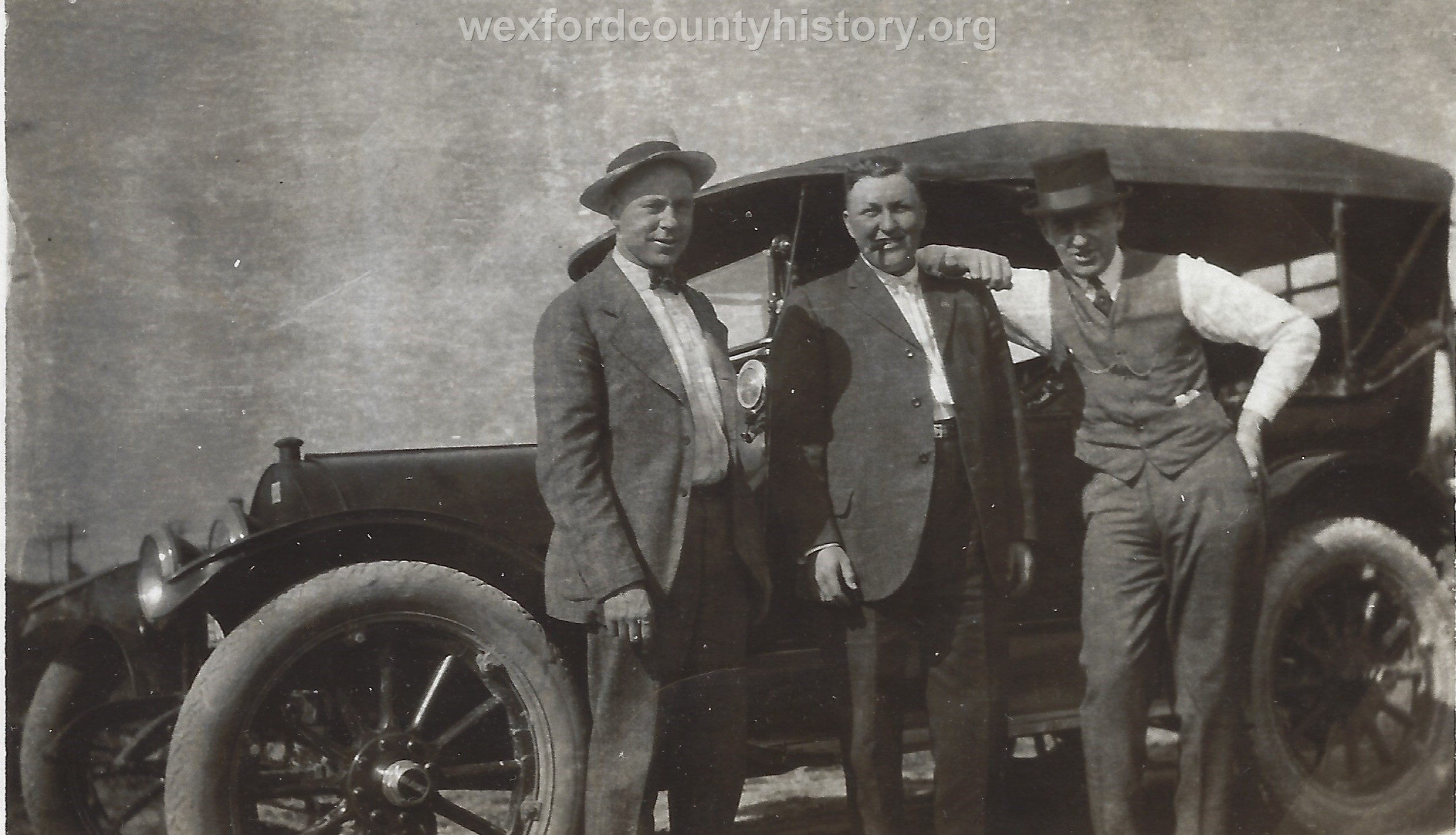 Gust Olson In Front Of His Car