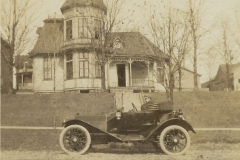 Car In Front Of Dr. Oden's house, c. 1910 - 1920