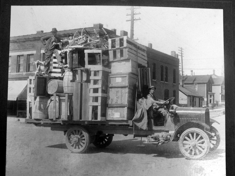 Truck With Load on Mitchell Street