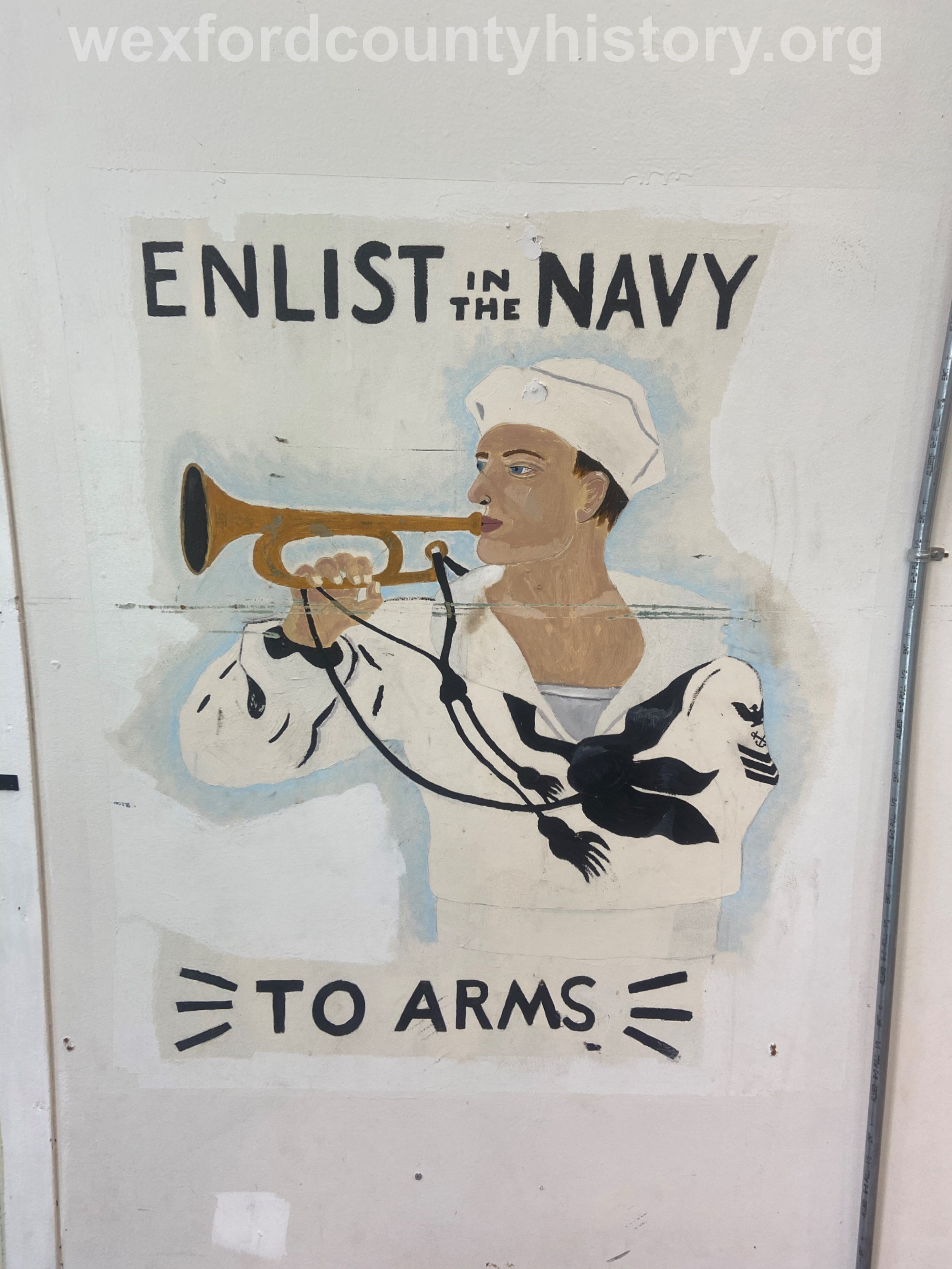 Wall Paintings At The Naval Reserve Center, taken in 2020