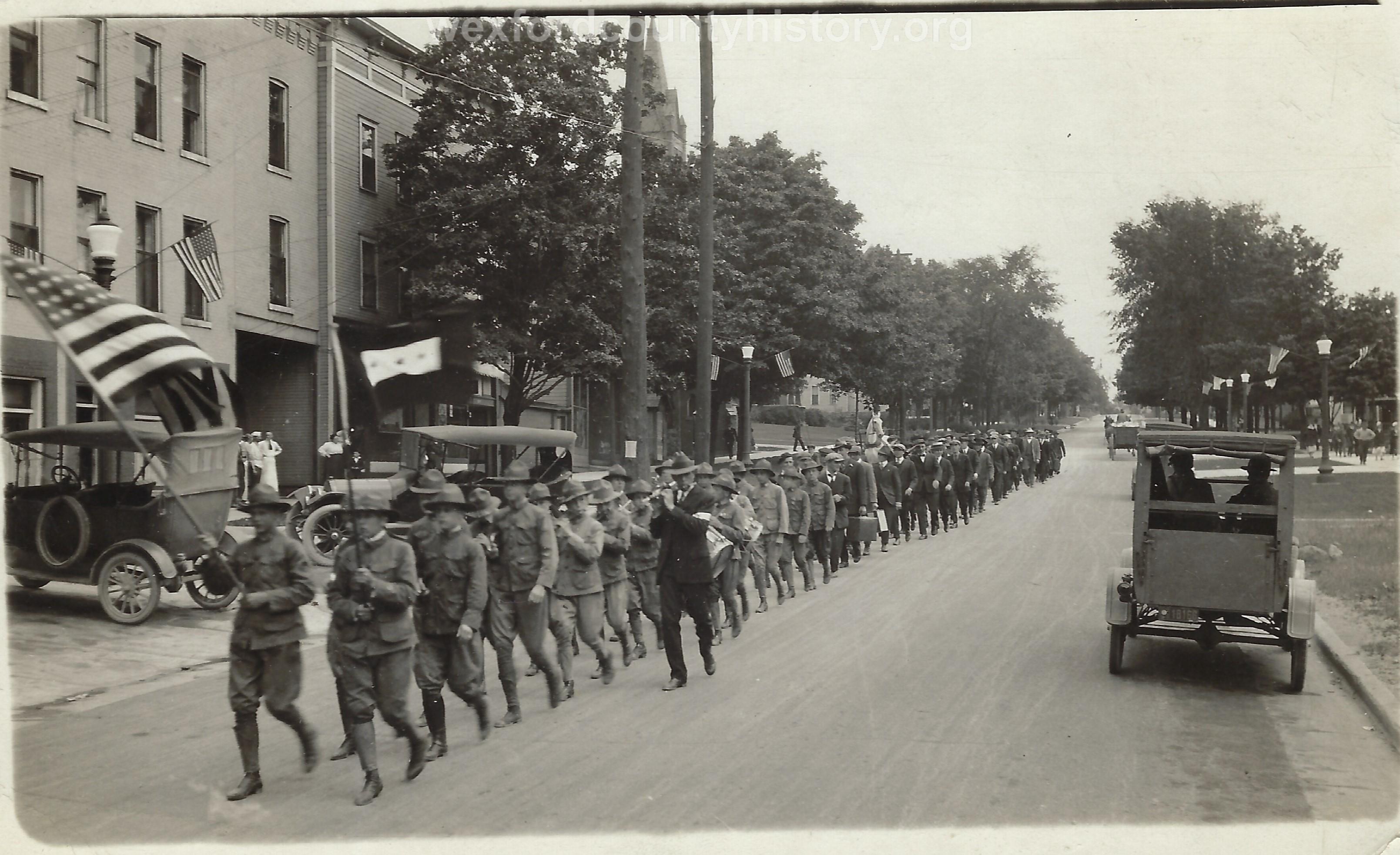 World War I Veterans On Parade