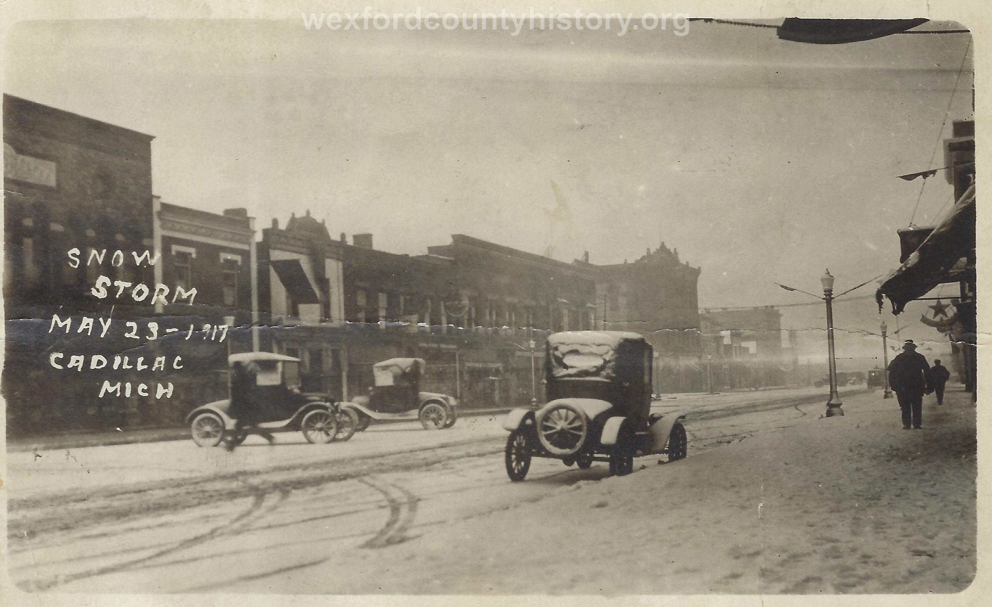 1917 Snowstorm in Cadillac