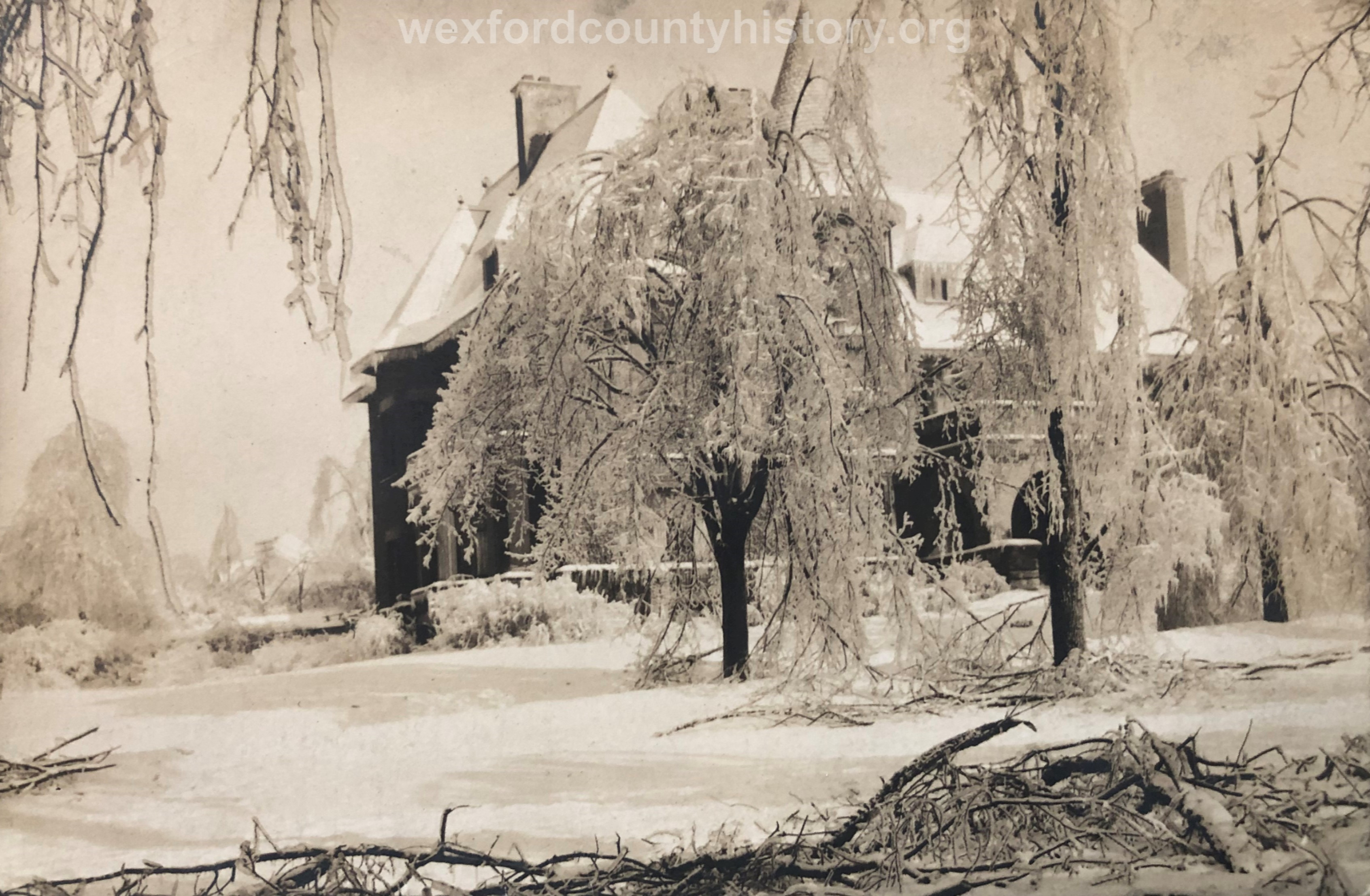 1922 Ice Storm - Delos Diggins House