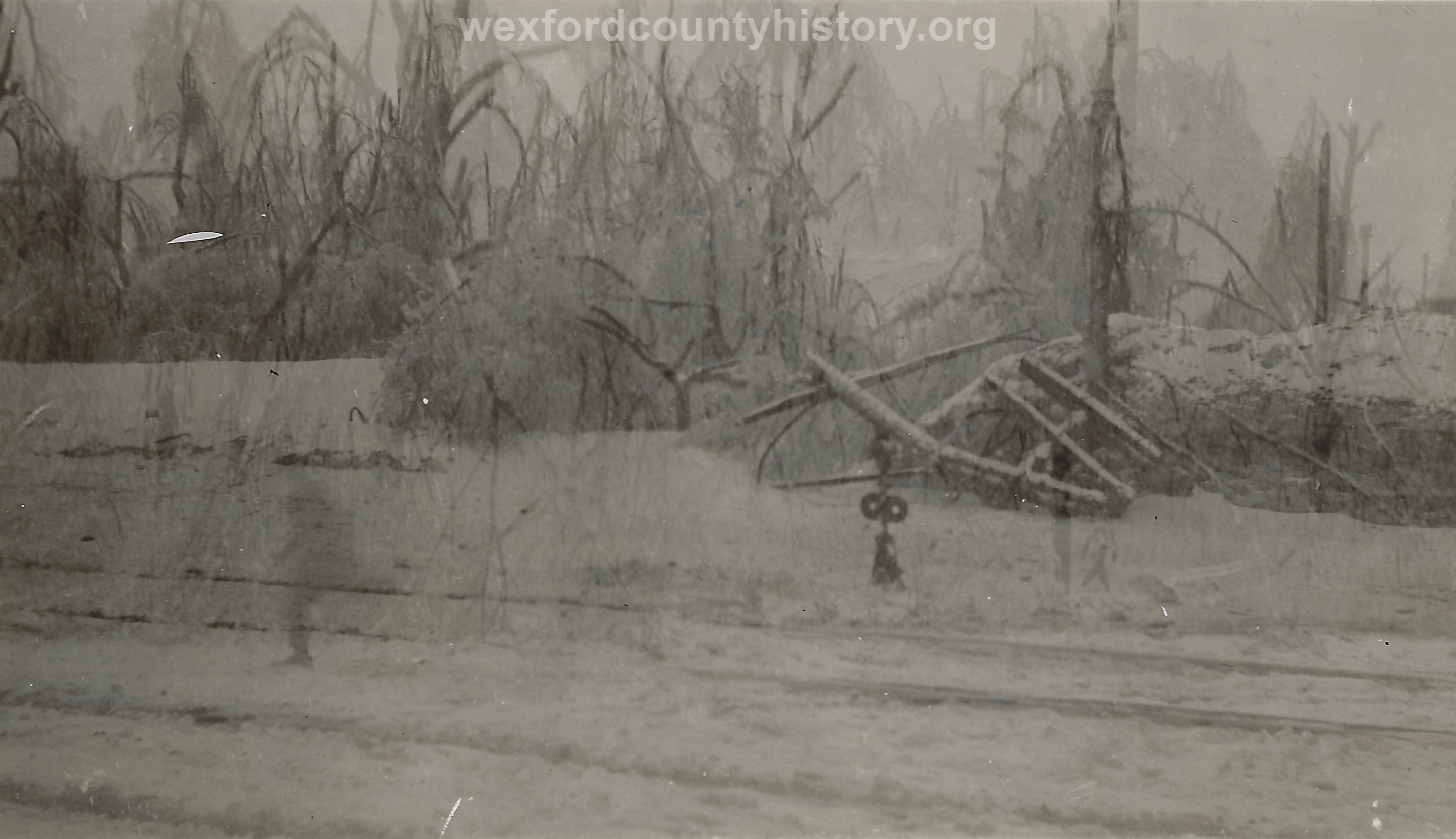1922 Ice Storm - Railroad Crossing