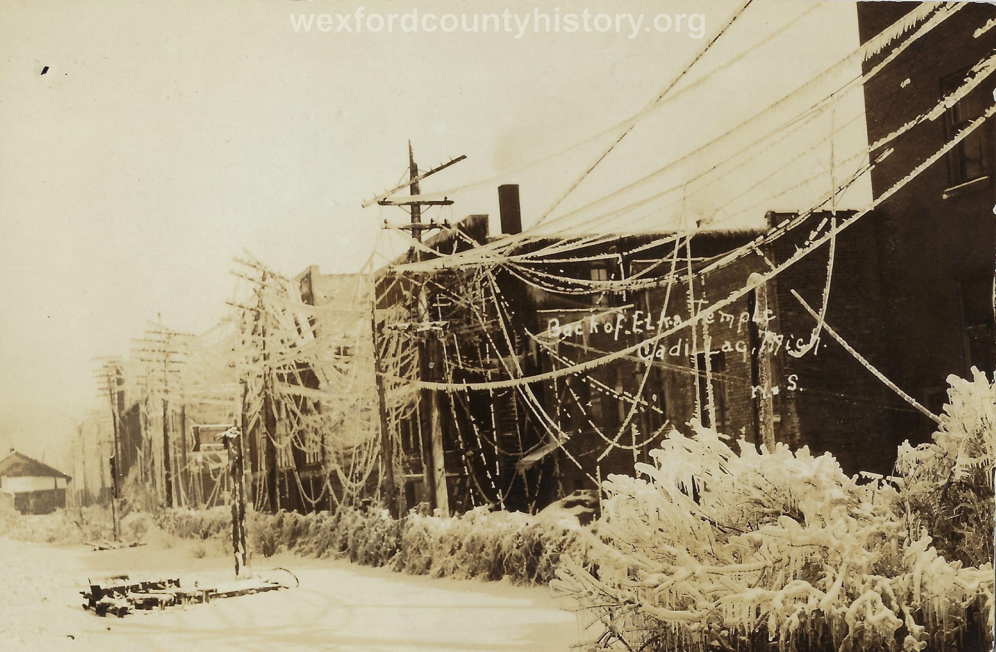 1922 Ice Storm - Back of Elks