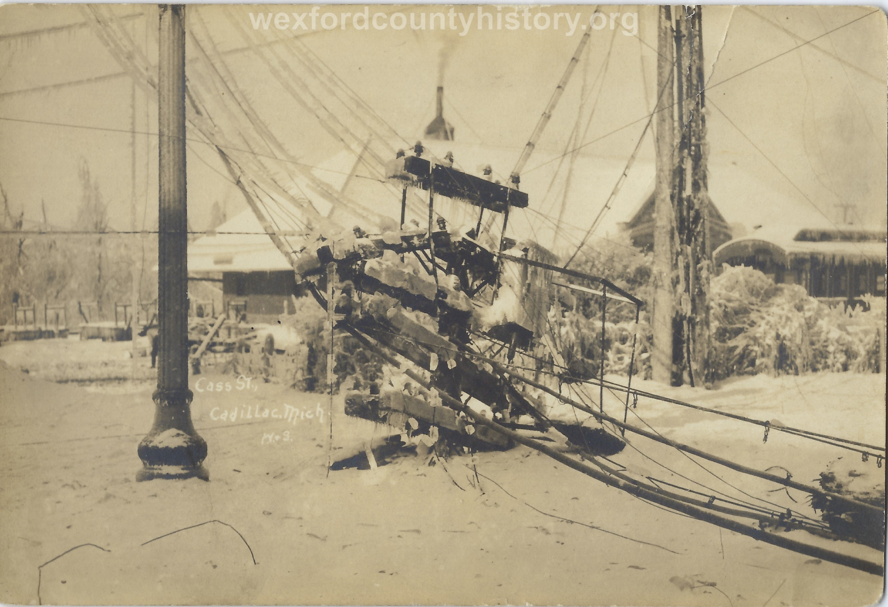 1922 Ice Storm - Cass Street Near The Depot