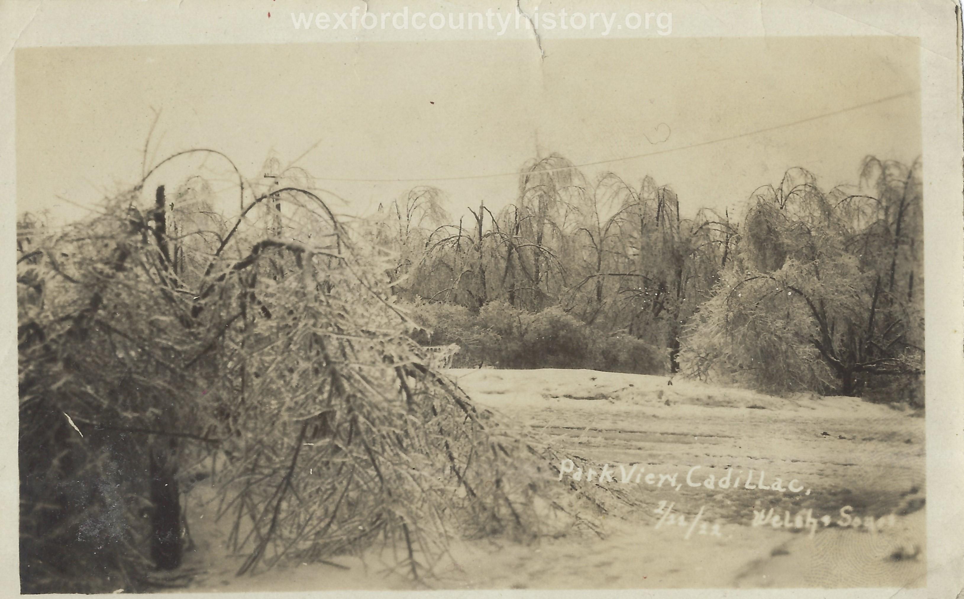 1922 Ice Storm - City Park
