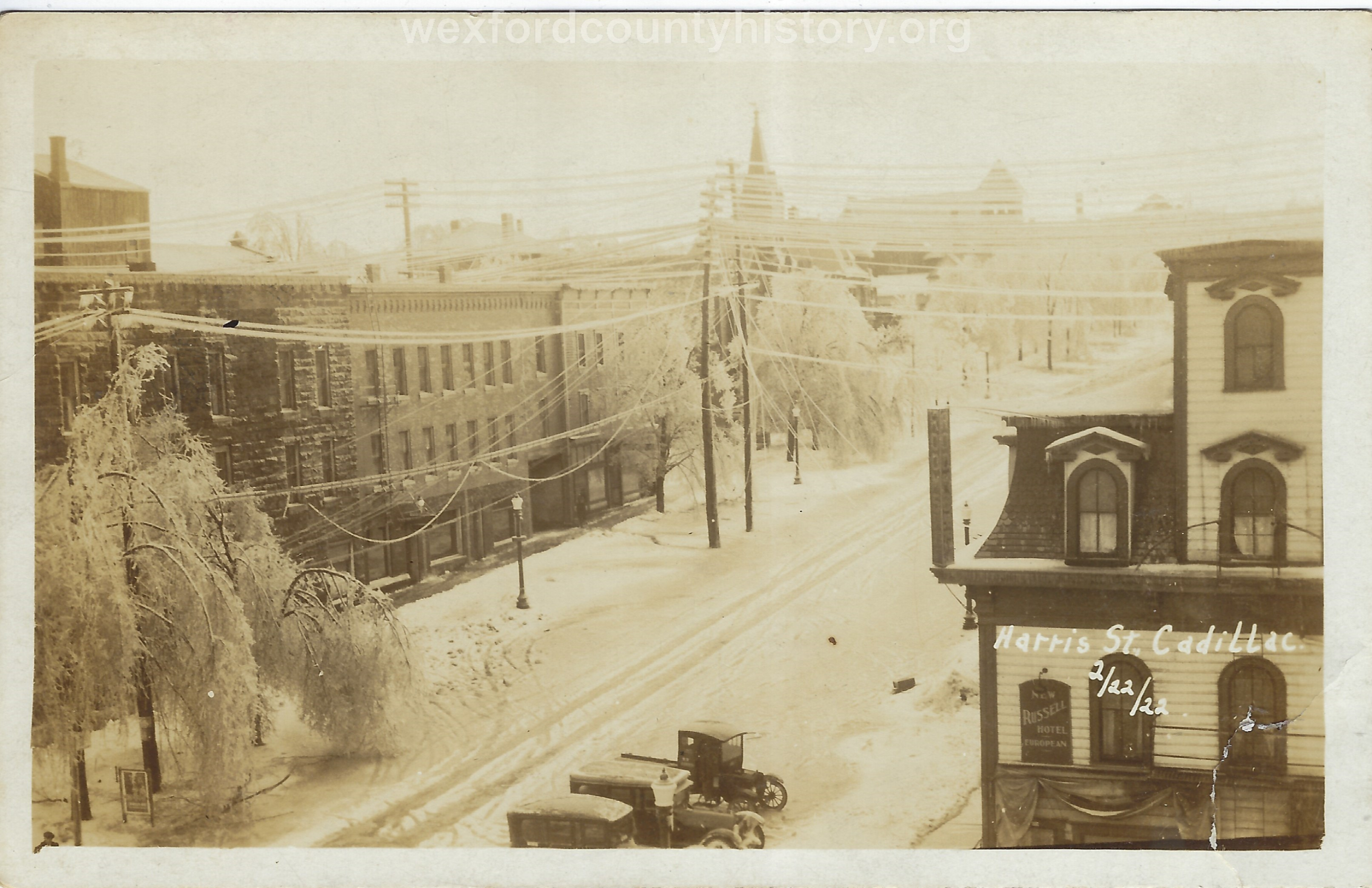 1922 Ice Storm - Mitchell Street Looking From Harris