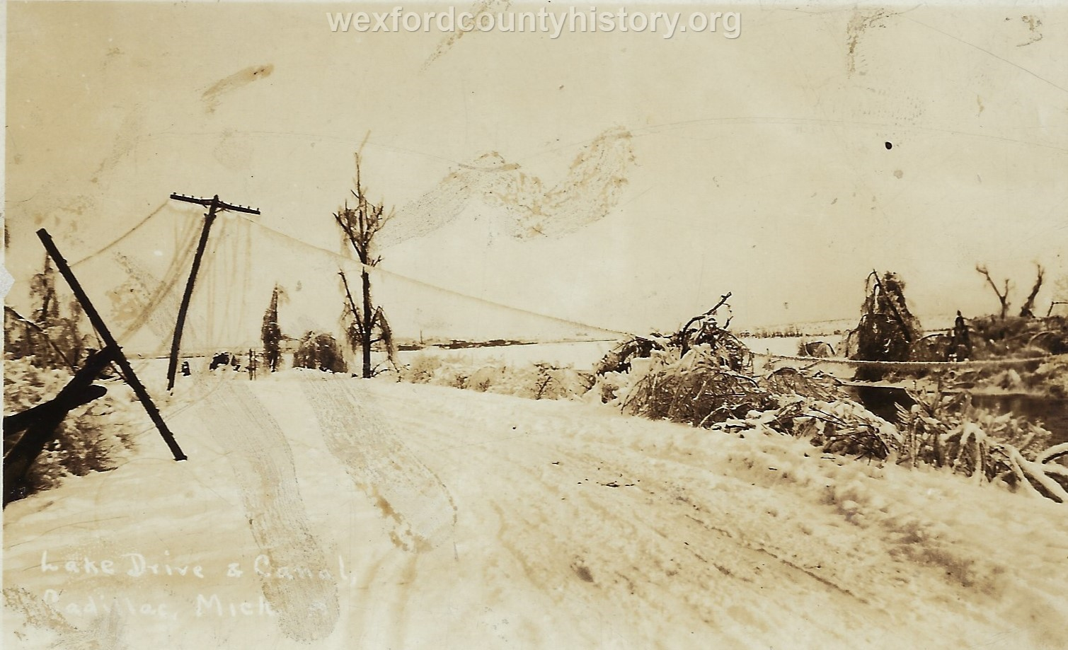 1922 Ice Storm - Lake Drive at the canal