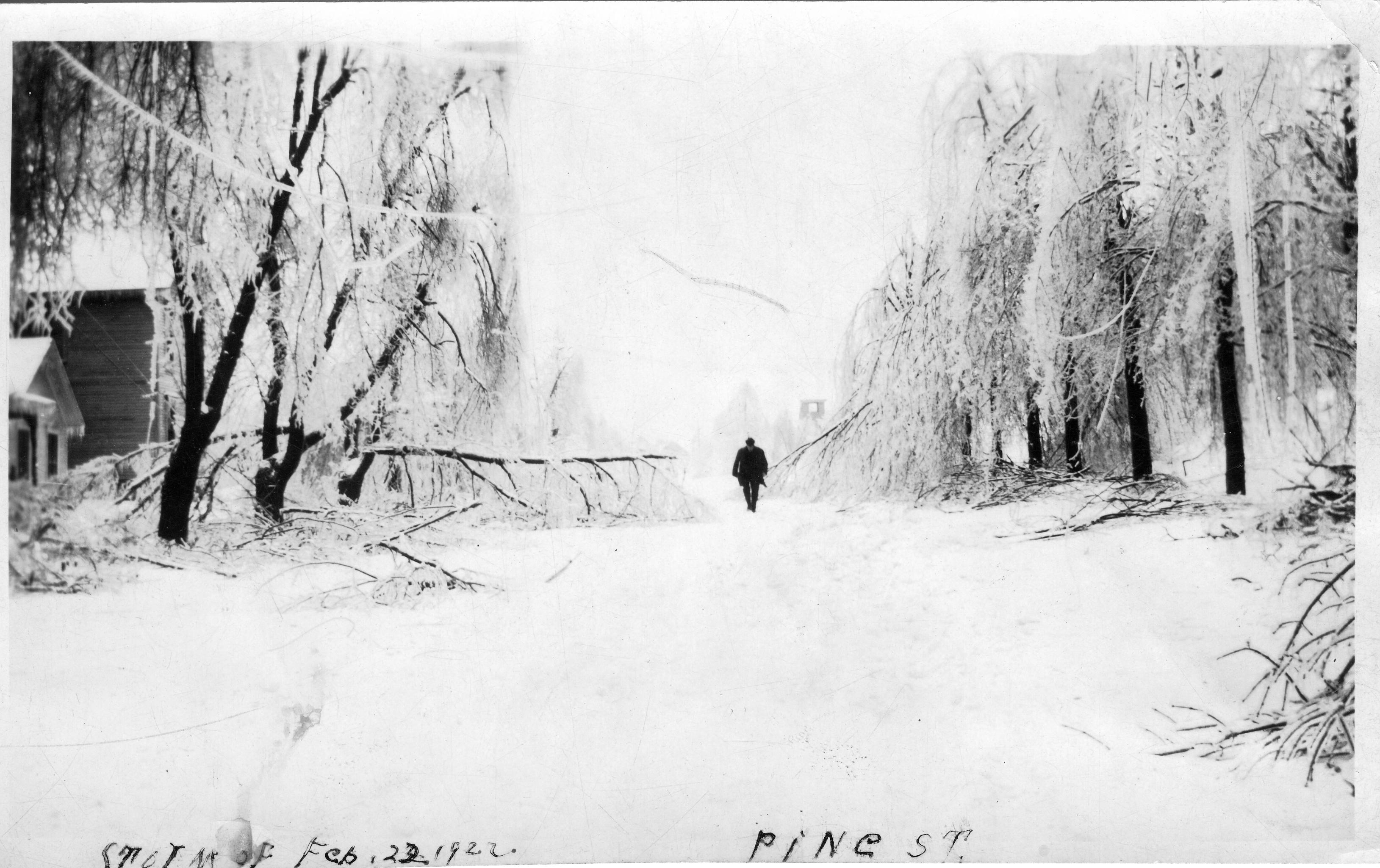 1922 Ice Storm - Pine Street