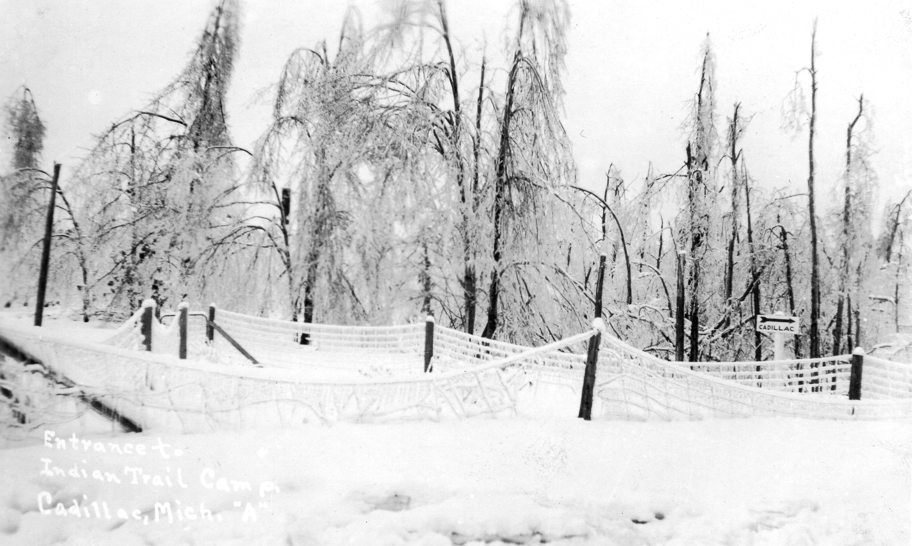 1922 Ice Storm - Indian Trail Camp