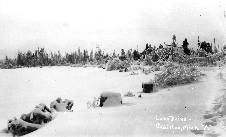1922 Ice Storm -  Lake Drive Near Canal