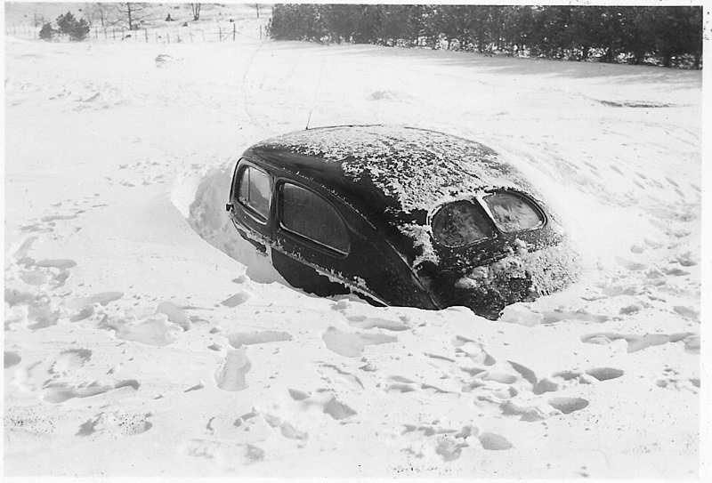 Car Buried in Snow
