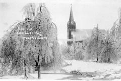 1922 Ice Storm - Simons Street and Zion Lutheran Church