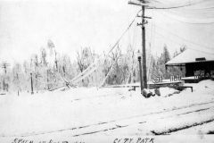 1922 Ice Storm - City Park Near Depot