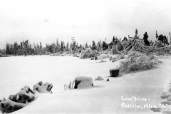 1922 Ice Storm -  Lake Drive Near Canal