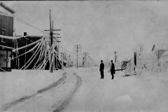 1922 Ice Storm - People In Front Of Homes
