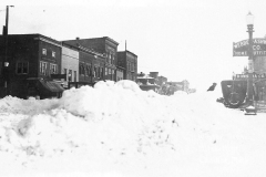 Snow Piles on Mitchell Street