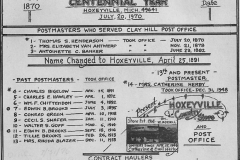Herby Coll. Hoxeyville Centennial Year